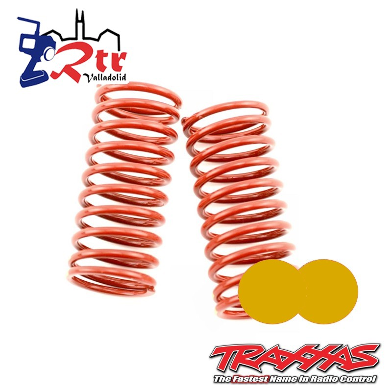 Muelles Rojos dureza 4.9 (Doble Dorado) Traxxas GTR TRA5648