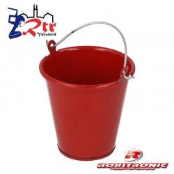 Cubo  Robitronic Metálico Rojo