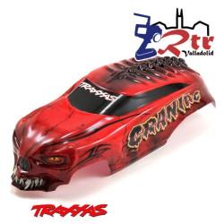 Cuerpo Traxxas Craniac, Skully , Digger 2WD Carroceria Bodyshell Rojo 3634R